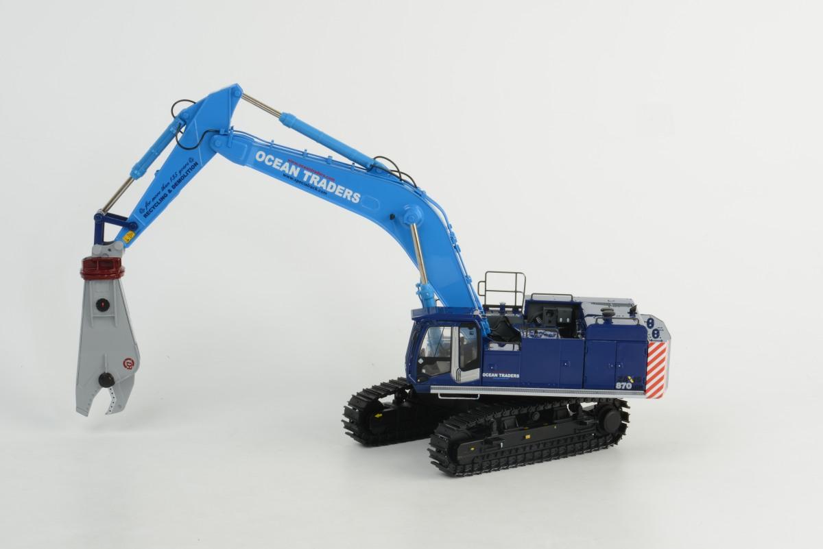 OCEAN TRADERS - Hitachi ZX 870 + Demolition Shear
