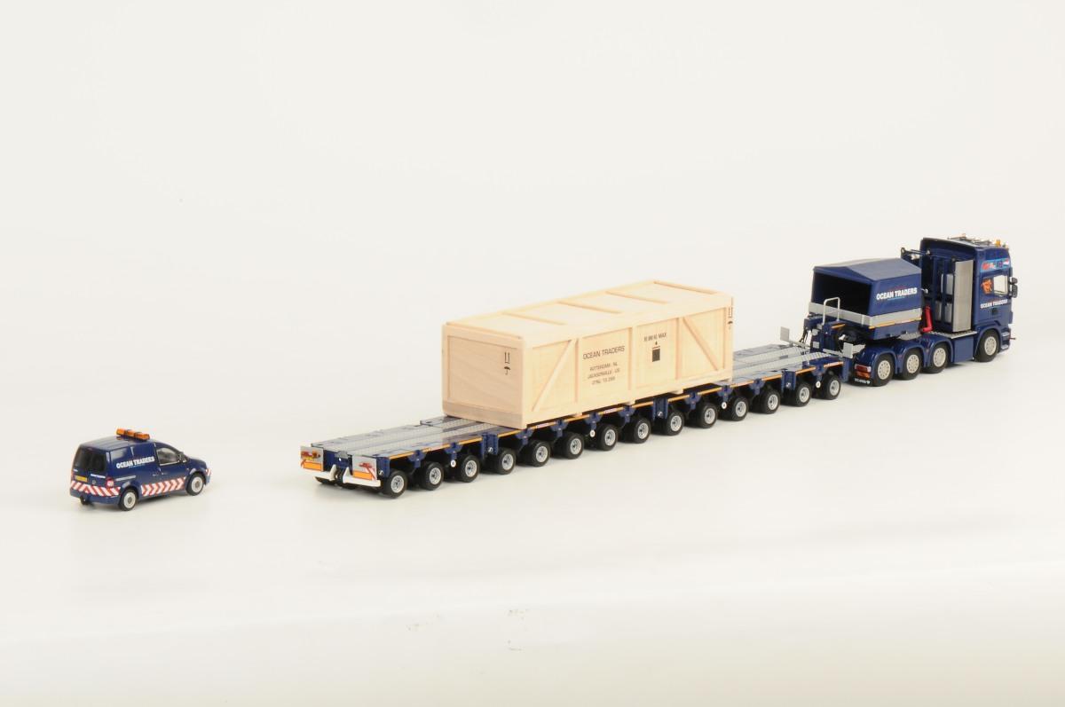 OCEAN TRADERS - Scania R730 Topline 8x4 / Scheuerle InterCombi / VW Caddy / Crate
