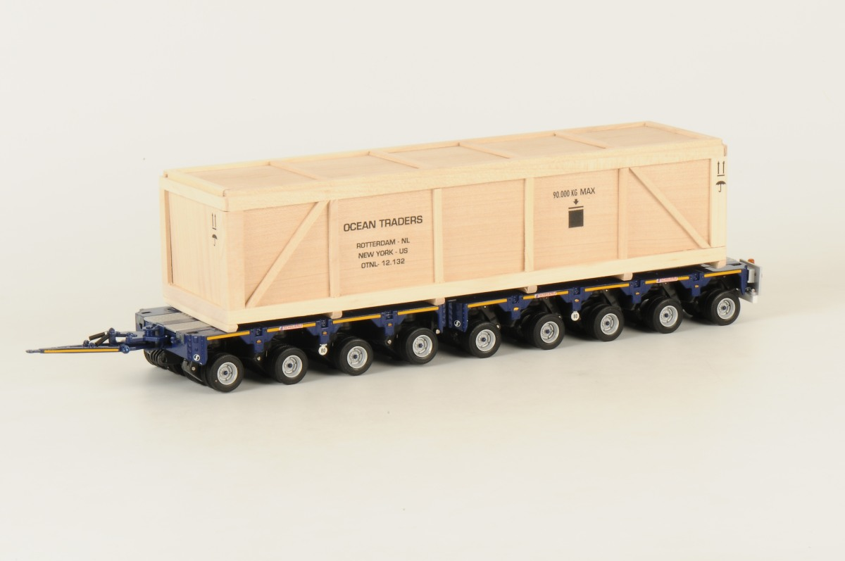 OCEAN TRADERS - EU Scheuerle 9 axle InterCombi + Crate